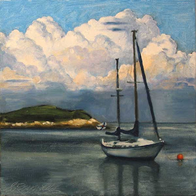 oil on canvas sail boat nova scotia