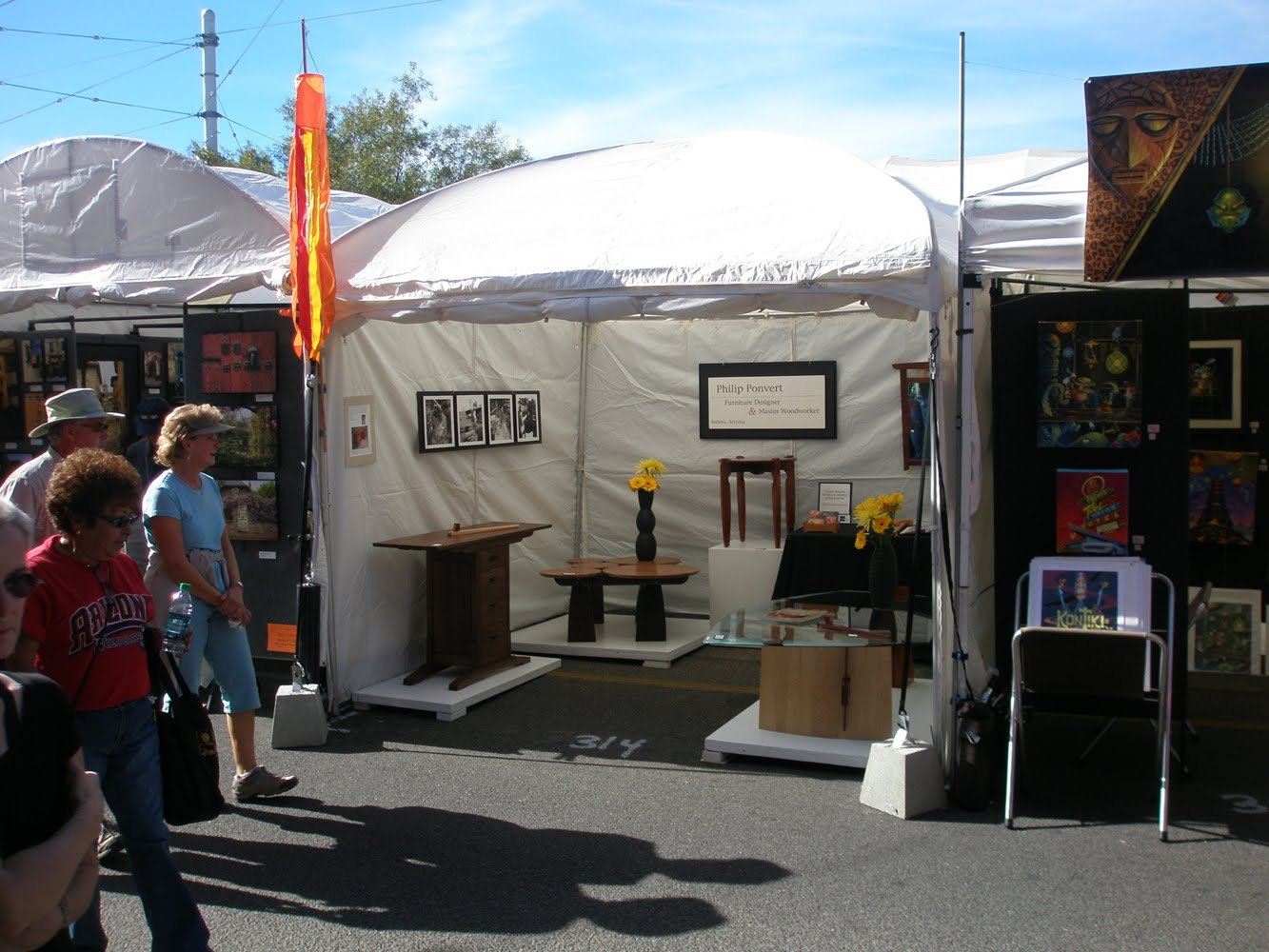 Phil Ponvert Designs: Street fair booth