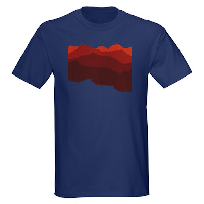 red mountains t shirt