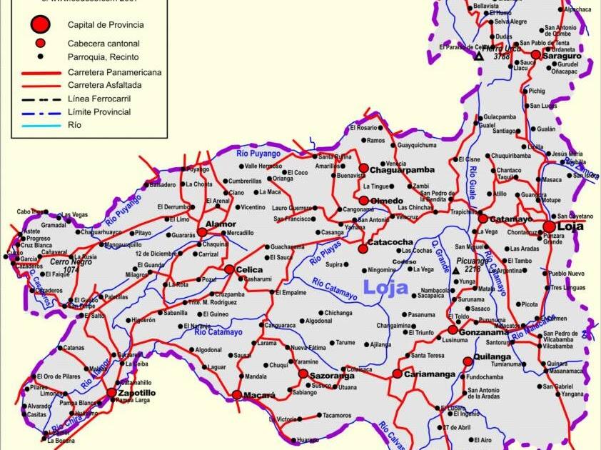 Mapas de ecuador mapa de la provincia de loja - La maquinista como llegar ...