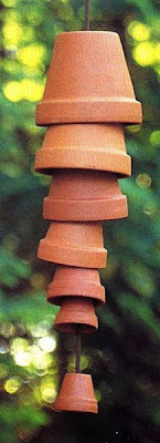 oodlekadoodle primitives terra cotta wind chimes tex mex