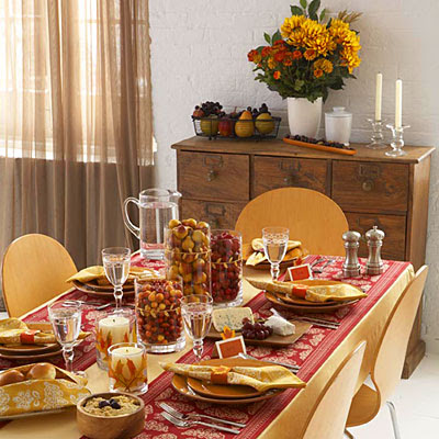 Design and coordination extravagant thanksgiving table decorating