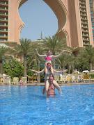 View of Burj AlArab from our hotel room at AtlantisDubai