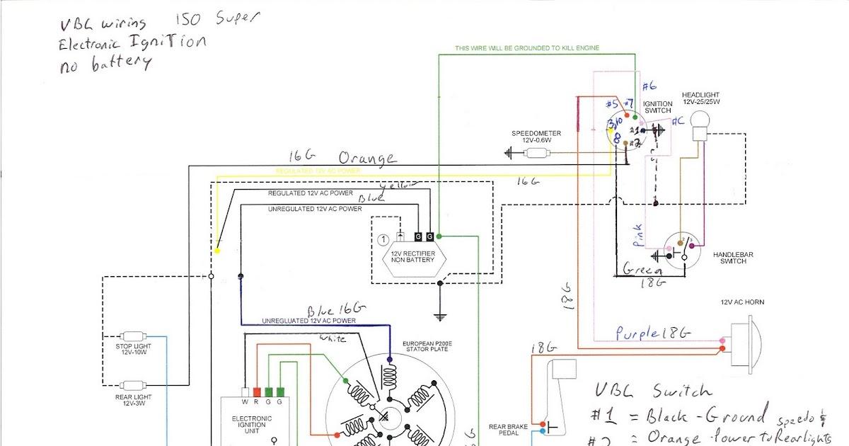 Wiring Diagram Vespa Strada : Vespa super restoration getting ready wiring
