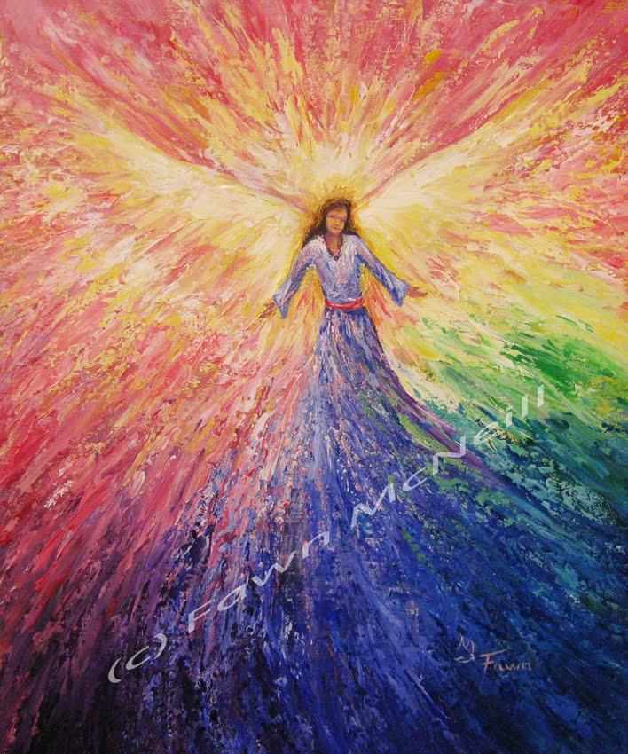 Fawn's Paintings: New Hope, palette knife angel