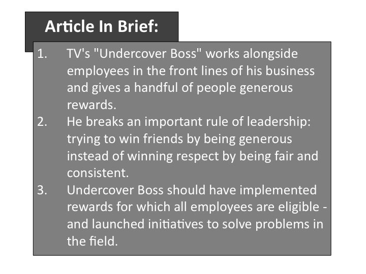 "Undercover Boss Tv Show. In CBS#39;s TV series ""Undercover"