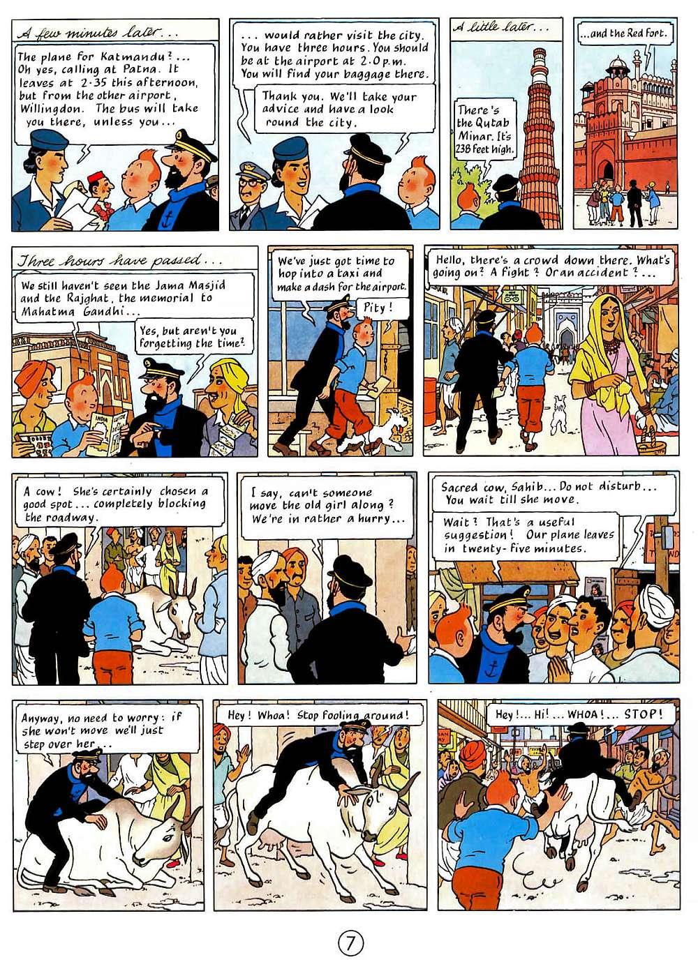 el comic de tintin: