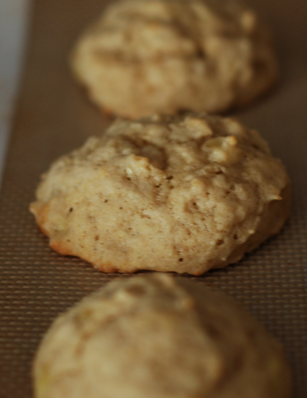 Dizzy Girl Bakes: Frosted Banana Cookies