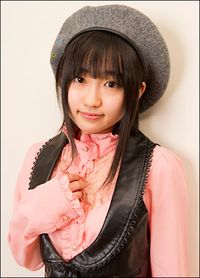 Yuuki Aoi in February 2010, at an interview with Hobby Channel's Seiyuu Police