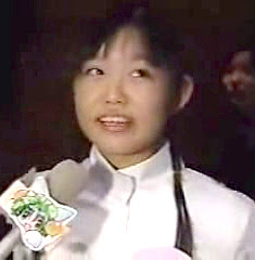 at the audition for di gi charat, when she was 13