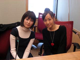 Ayahi guesting on Kawasumi Ayako's radio show