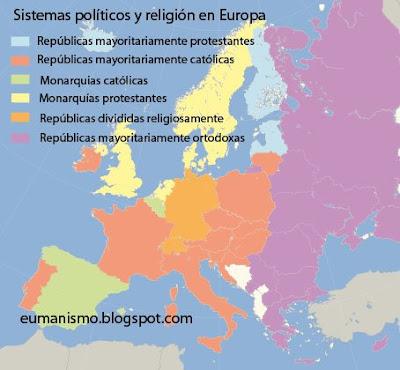 mapa de europa politico. Mapa de Europa relacionando la