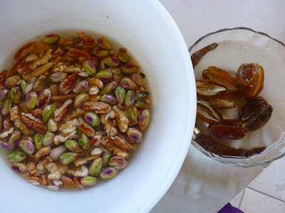 Nuts And Seeds. Soak nuts for 4 hours, seeds