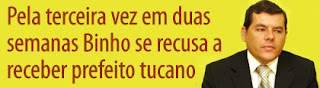 Pela terceira vez em duas semanas Binho se recusa a receber prefeito do PSDB