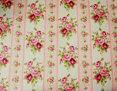 French Laundry  The Prettiest Pink Roses Vintage Wallpaper EVER