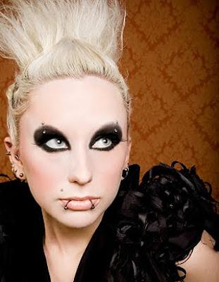 brookelle bones makeup. Goth Makeup