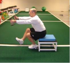 Mike Boyle single-leg squatting