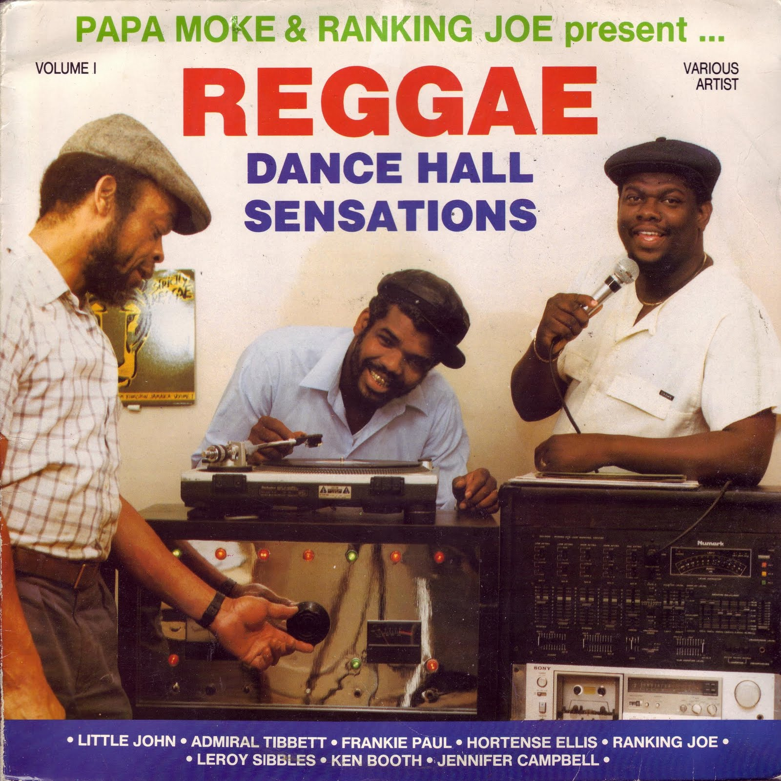 reggae dance hall sensations (papa moke lp)