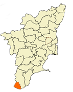 Kanyakumari District Tamilnadu Map