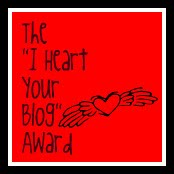The I Heart Your Blog Award