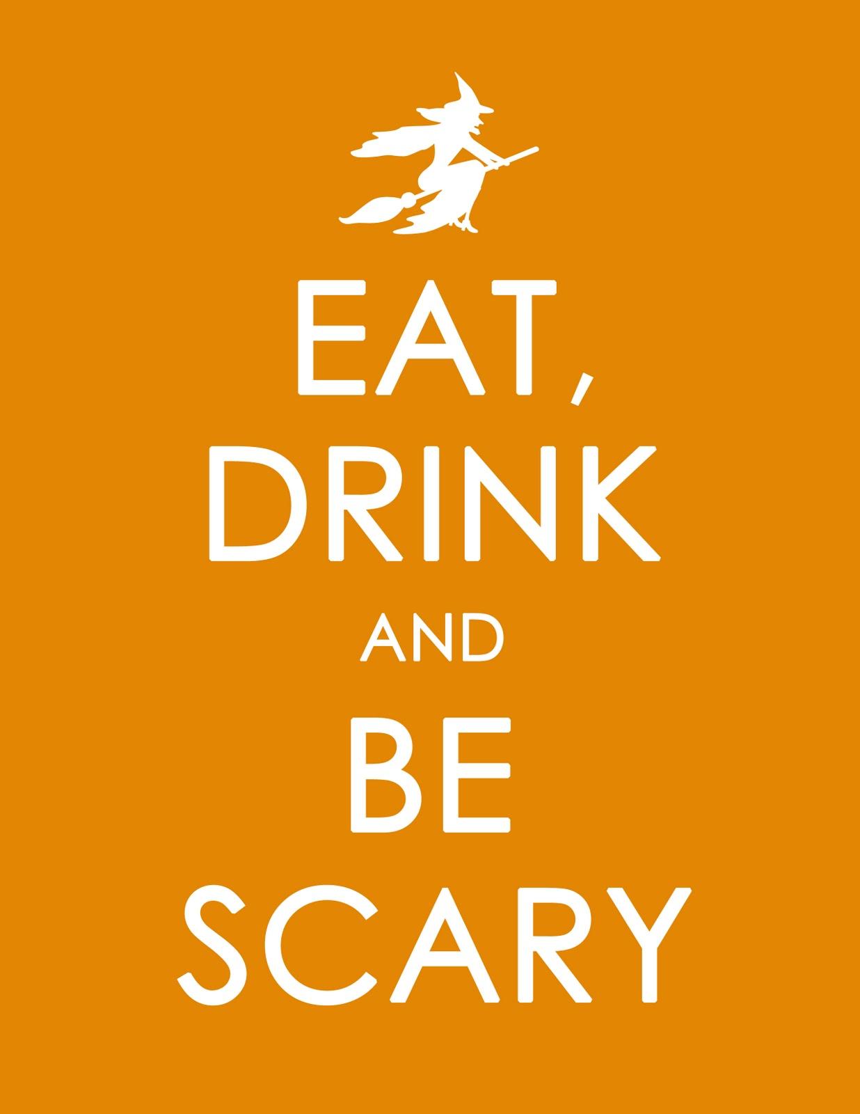 blah blah blogging  free printable halloween poster