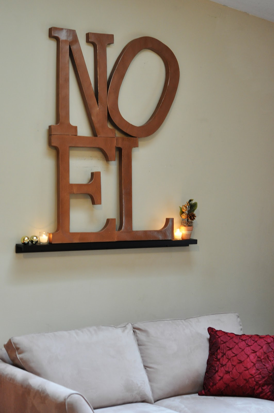 craftily ever after pottery barn inspired noel wall art. Black Bedroom Furniture Sets. Home Design Ideas