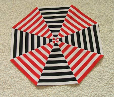Octagon from striped fabric
