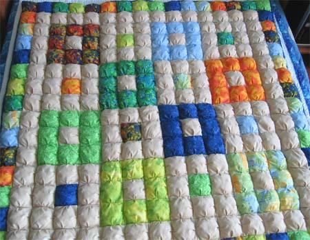 Puff Quilt- the last quilt of 2010 - Geta's Quilting Studio