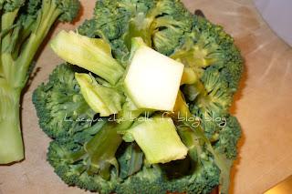 pulire il gambo dei broccoli