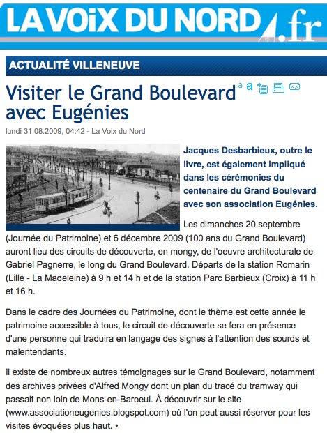 Visiter le Grand Boulevard avec Eugénies