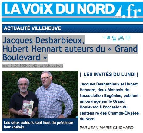 Le livre sur le Grand Boulevard de Lille à Roubaix et Tourcoing