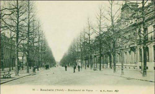 Le Boulevard de Paris à Roubaix en 1911