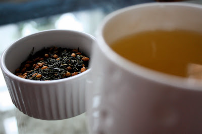 Genmaicha leaves tea