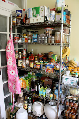 Food shelves kitchen