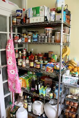 Food shelves kitchen