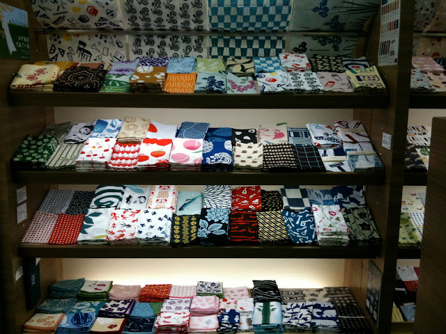 A display of furoshiki
