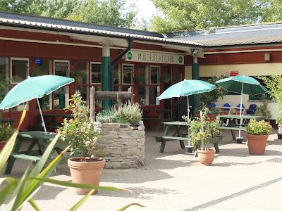 Mudchute Kitchen exterior outdoor seating