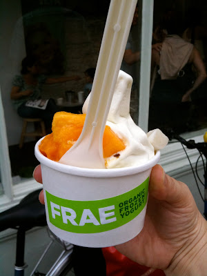 Frae Islington frozen yoghurt green tea