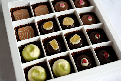 Matcha Chocolat tea chocolates in box
