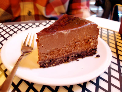 Barcomi's chocolate espresso cheesecake