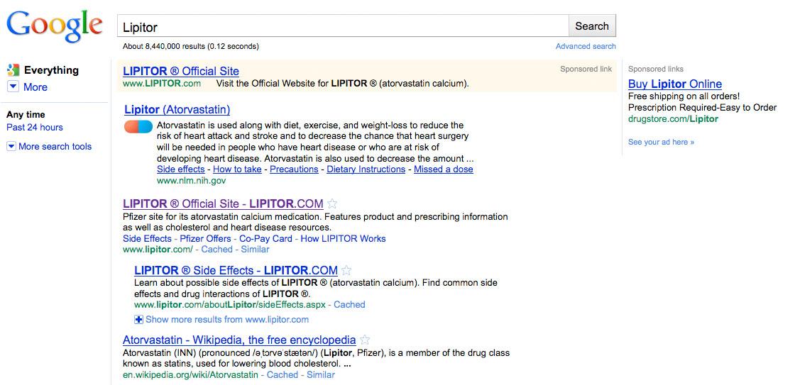 Lipitor NIH SearchAd