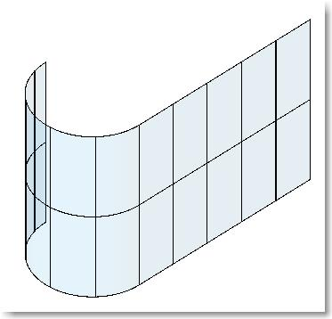 Simple curved glazing in revit curtain walls infinite bim for Curved glass wall