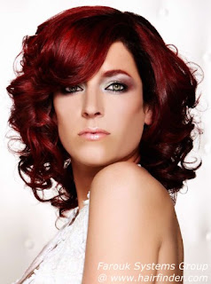 red hair color for dark hair