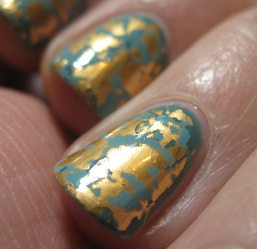 African Nail Art: Nail Art Foil In African Jade