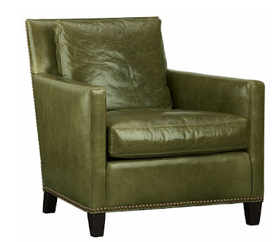 Site Blogspot  Leather Furniture on Loving This Olive Green Leather Wyatt Chair