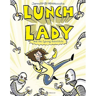 an analysis of the strong plot in lunch lady and the cyborg substitute a novel by jarrett j krosoczk Inspired by author/artist jarret j krosoczka's crazy ideas about his own elementary school lunch lady, much of the book's humor comes from lunch lady's cafeteria-themed gadgets, including the spork phone, hairnet nets, and sonic boom juice box.