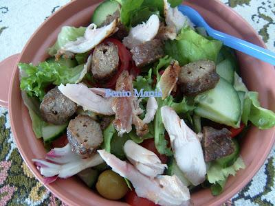 salad daging