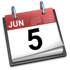 iCal icon red June 5th 2007