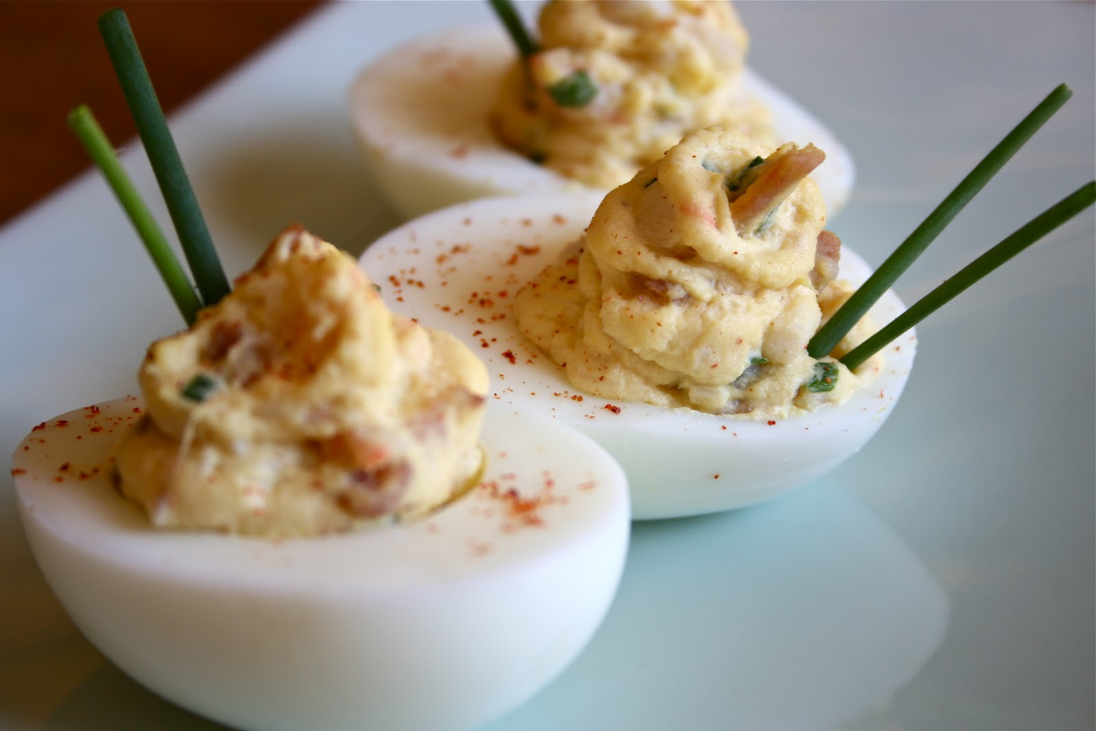 Bacon Deviled Eggs with White Truffle Oil