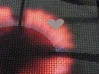 15 cociendo corazon   Colgante corazón plano